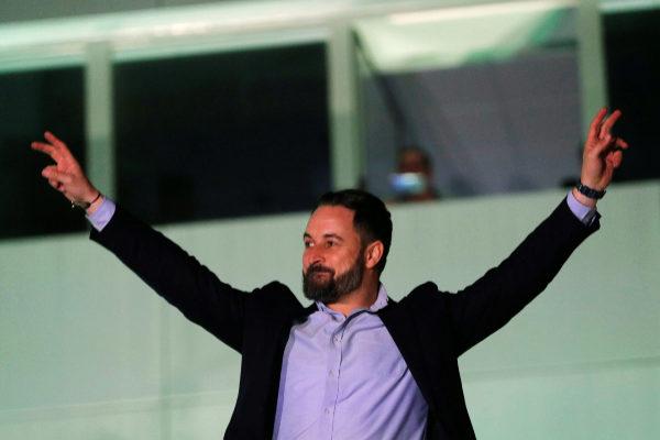 El líder de Vox Santiago Abascal.