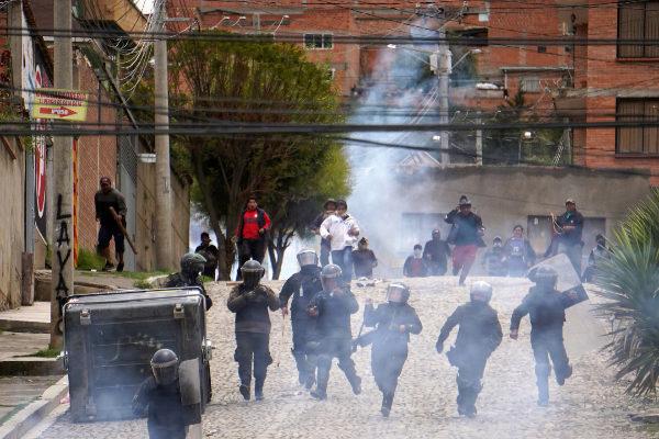 El Ejército de Bolivia se une a la Policía para contener el vandalismo