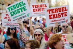 Carteles de Teruel Existe en una manifestación.
