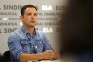 El secertario general de ELA. Mitxel Lakuntza.