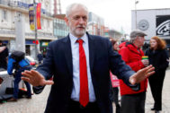 Britain's opposition <HIT>Labour</HIT> <HIT>Party</HIT> leader Jeremy Corbyn attends an election campaign event in Blackpool