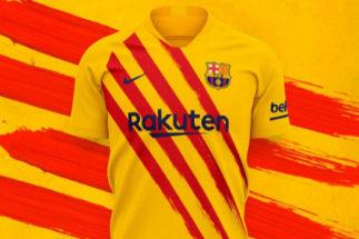 La nueva camiseta del Barça con la senyera.