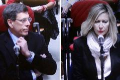 Juan Carlos Quer y Diana López Pinel, los padres de Diana Quer, este martes, en un momento del juicio al presunto asesino de su hija.