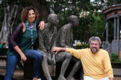 Alicia Margallo, profesora de Lengua, y José Navarro, profesor de Biología.