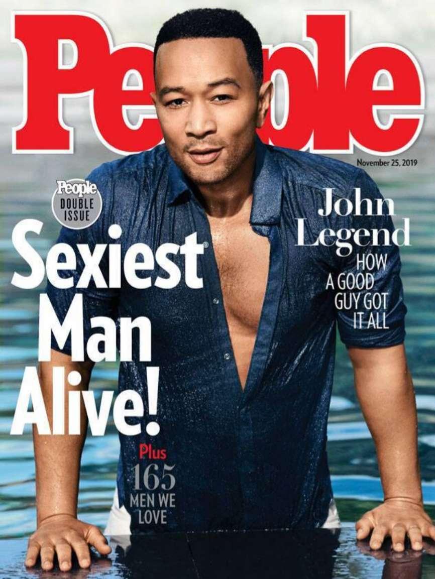 Portada de la revista People en la que John Legend es nombrado el...