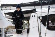 Greta, en el catamarán en el que viajará a España