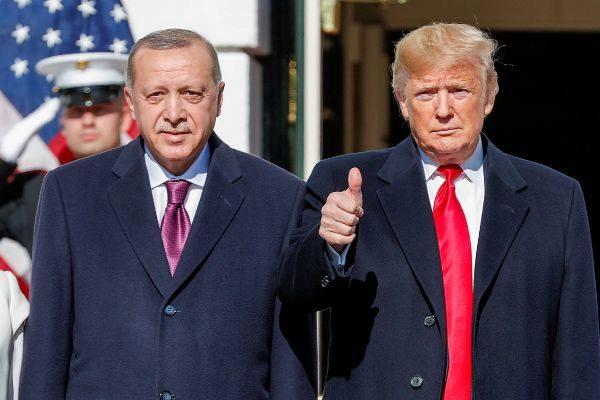 U.S. President Donald <HIT>Trump</HIT> welcomes Turkey&apos;s President...