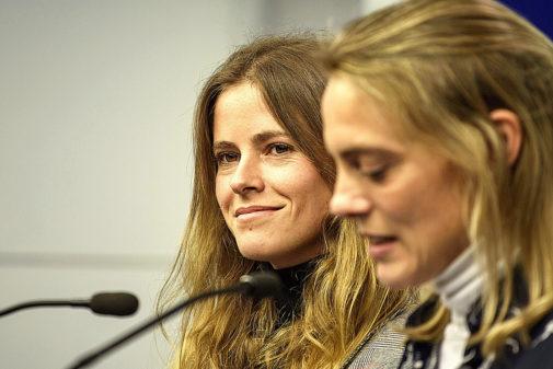Beatriz Fanjul, diputada electa, y la presidenta del PP de Vizcaya,...