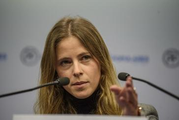 La diputada del PP por Vizcaya Bea Fanjul, ayer.