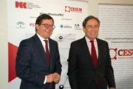 Fernando Seco, vicepresidente ejecutivo, y Ricardo Pumar, presidente de CESUR.