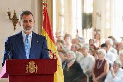 El Rey, con la comunidad española en La Habana.