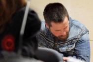 José Enrique Abuín, alias el Chicle, acusado de la muerte de Diana Quer, esta mañana en el banquillo de los acusados.