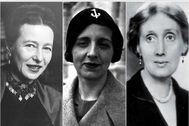 Simone, de Beauvoir, María Zambrano y Virginia Woolf.