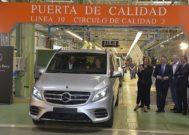 Espacio de acabado de las fuirgonetas Vito de la planta de Mercedes Benz en Vitoria.