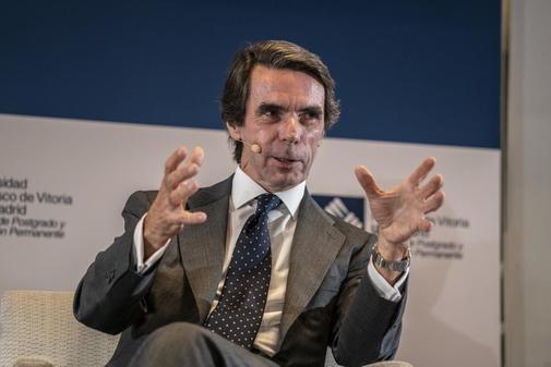 José María Aznar, en un acto público celebrado recientemente en...