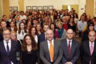 Claustro de profesores, empresarios y alumnos de Económicas de la Universidad de Málaga.