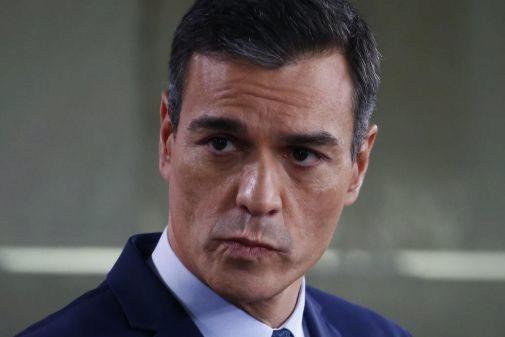 El presidente del Gobierno en funciones, Pedro Sánchez, en la rueda de prensa ofrecida este jueves en Madrid.