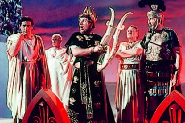 Fotograma de 'Quo Vadis?', con Peter Ustinov encarnando a Nerón.