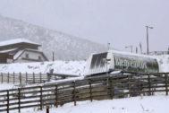 GRAF8818. PAJARES (<HIT>ASTURIAS</HIT>).- Aspecto que presenta hoy jueves la estación de esquí de Pajares (<HIT>Asturias</HIT>). La alerta roja por intensas nevadas se prolongará en <HIT>Asturias</HIT> durante toda la jornada de este jueves y la de mañana, viernes, un episodio en la que la Agencia Estatal de Meteorología (Aemet) prevé una acumulación de hasta 80 centímetros de nieve por encima de los 800 metros. El aviso rojo (riesgo extremo) afectará hoy y mañana a la Cordillera, los Picos de Europa y la Suroccidental asturiana, donde se prevén acumulaciones de 40 centímetros en 24 horas y de 80 en 48 horas a partir de los 800-900 metros y aún mayores por encima de los 1.000-1.200 metros.  J.L. Cereijido