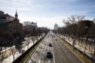 El Paseo de la Castellana desde el puente de Juan Bravo.