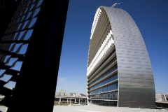 Sede de BBVA en el popular edificio de 'La vela', en Madrid.