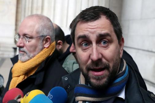 Toni Comín y Lluís Puig, este viernes en Bruselas.