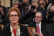 La ex embajadora de EEUU para Ucrania, Marie Yovanovitch.