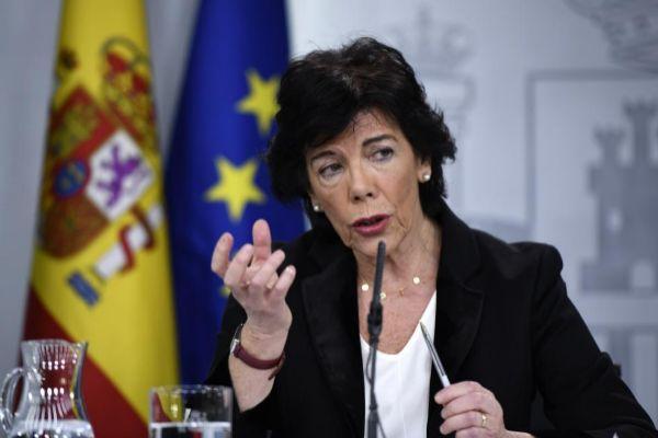 La ministra de Educación, Isabel Celaá, ayer.
