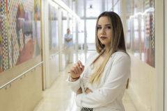 Ángela, en las instalaciones del Hospital Gregorio Marañón de Madrid.