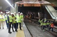 Obras en el túnel de Recoletos.