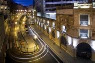 Rampas en la zona de Uribitarte, en Bilbao.