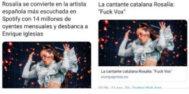 """La semana de DiosTuitero: en la resaca de una semana post electoral no podía faltar... Rosalía: """"Fuck Vox"""""""