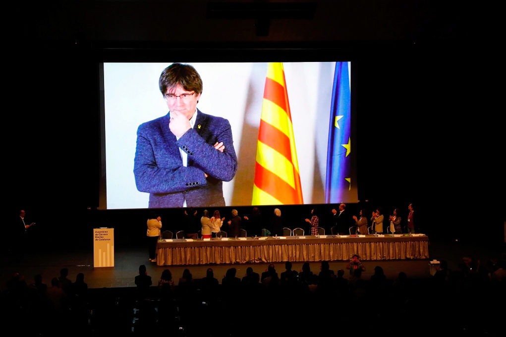SANTI COGOLLUDO 30.10.2019 Barcelona, Catalunya Quim Torra, Roger...
