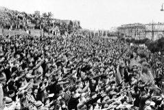 Manifestación fascista en Roma, en 1938.