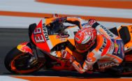 Repsol Honda Team's Spanish rider <HIT>Marc</HIT> <HIT>Marquez</HIT> rides during the fourth free practice session of the MotoGP Valencia Grand Prix at the Ricardo Tormo racetrack in Cheste near Valencia, on November 16, 2019. (Photo by JOSE JORDAN / AFP)