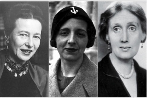 Simone, de Beauvoir, María Zambrano y Virginia Woolf.