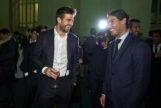 Piqué y Nadal, durante la Cena Oficial de la Copa Davis.