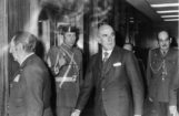 Fuertes de Villavicencio, en noviembre de 1975, en la clínica donde estaba hospitalizado Franco.