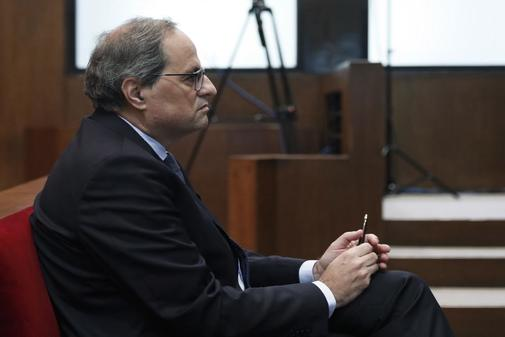 El presidente de la Generalitat, Quim Torra, en el banquillo del TSJC.