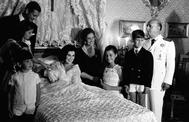 Franco, con su mujer, su hija, su yerno y sus nietos.