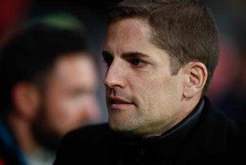 Robert Moreno, durante el partido ante Rumanía.