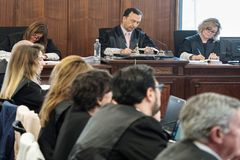 El tribunal de la Audiencia de Sevilla, durante el juicio de los ERE.