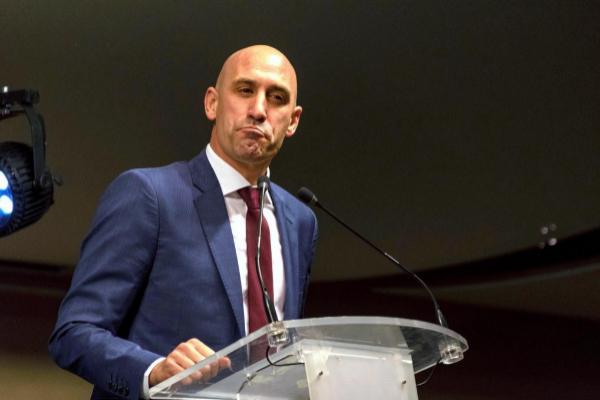 El presidente de la Federación Española de Fútbol, Luis Rubiales
