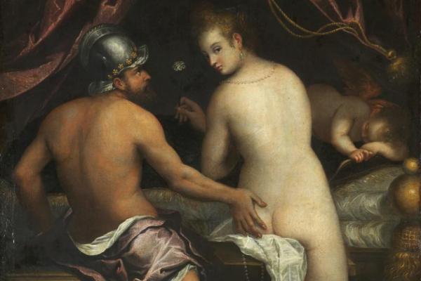 'Marte y Venus', obra de Lavinia Fontana expuesta en el Museo del...