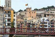 Vista del centro de la ciudad de Girona