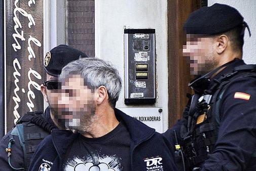 Uno de los CDR detenidos por la Guardia Civil en Sabadell (Barcelona)...
