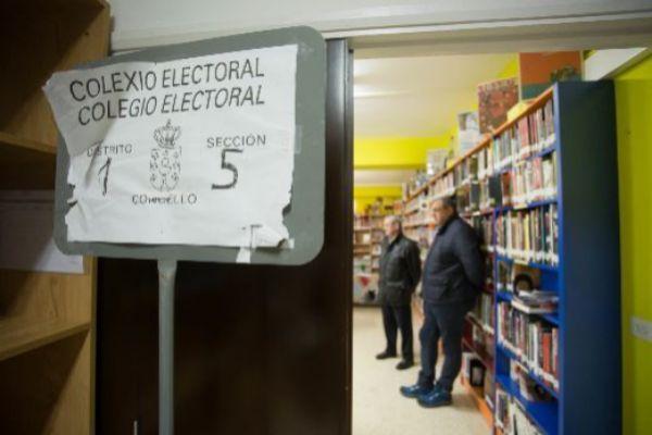Colegio en Burela, que tuvo que repetir elecciones al anularse su...