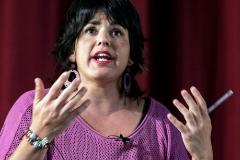 La coordinación de Podemos Andalucía, Teresa Rodríguez, en un acto reciente.