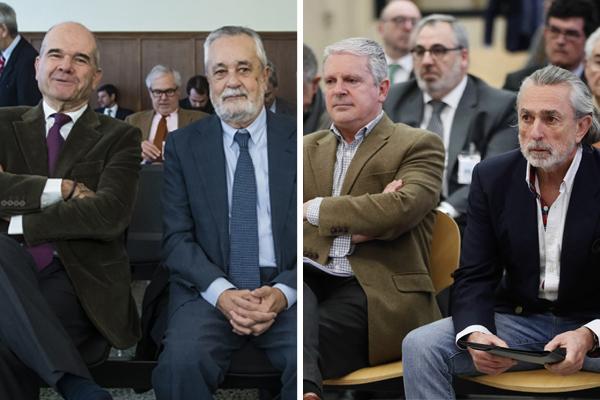 A la izqda., los ex presidentes andaluces Manuel Chaves y José...