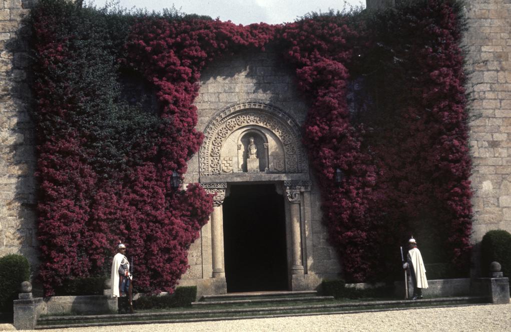 La puerta principal del Pazo de Meirás, residencia veraniega de...